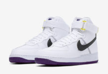 Nike Air Force 1 High White Court Purple CI1117-100 Release Date