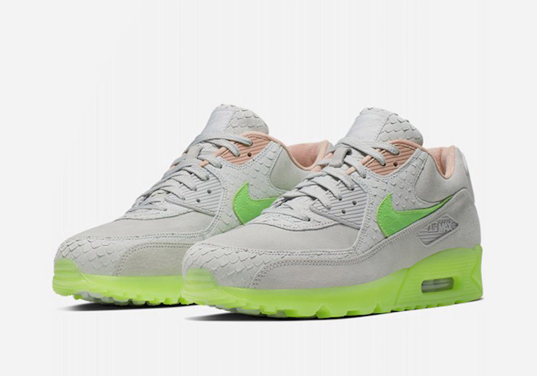 3568de6af Nike Air Max 90 Platinum Electric Green CQ0786-001 Release Date - SBD