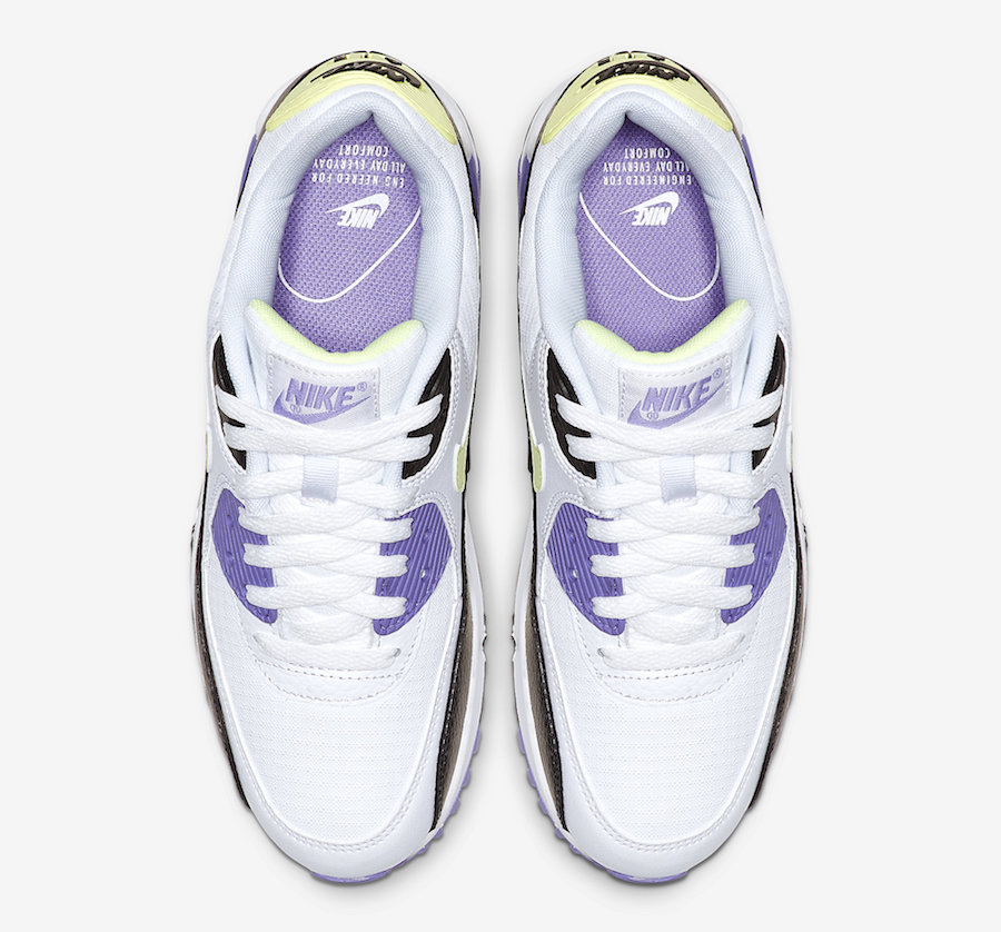 Nike Air Max 90 WMNS Barely Volt Purple 325213-142 Release Date