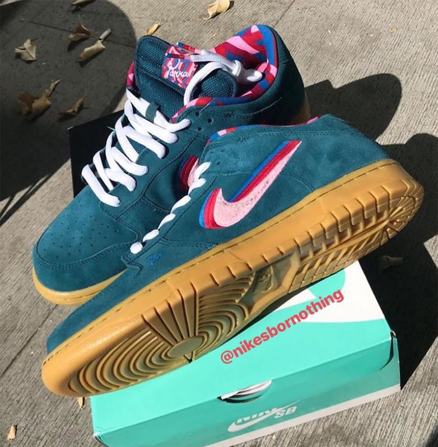 Parra Nike SB Dunk Low Friends and Family CN4504-300 Release Date