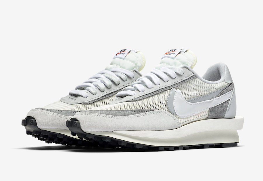 Sacai Nike LDWaffle White Wolf Grey Black BV0073-100 Release Date