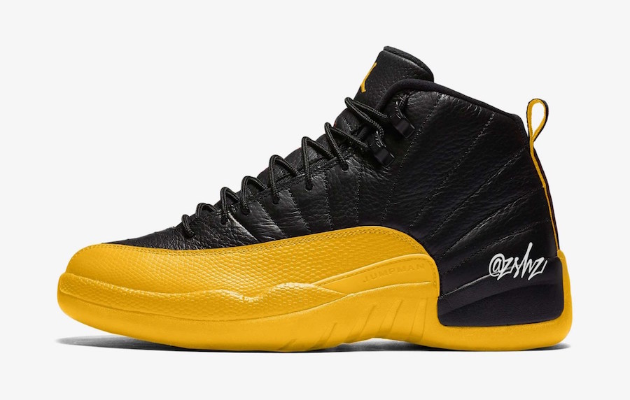 Air Jordan 12 Black University Gold 130690-070 Release Date