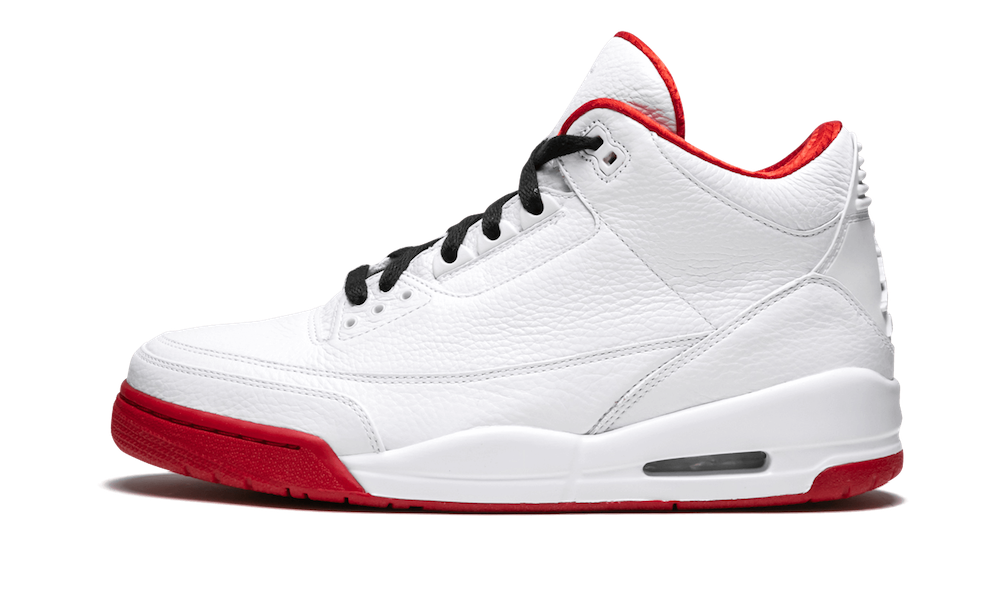 Air Jordan 3 History of Flight White Varsity Red Black