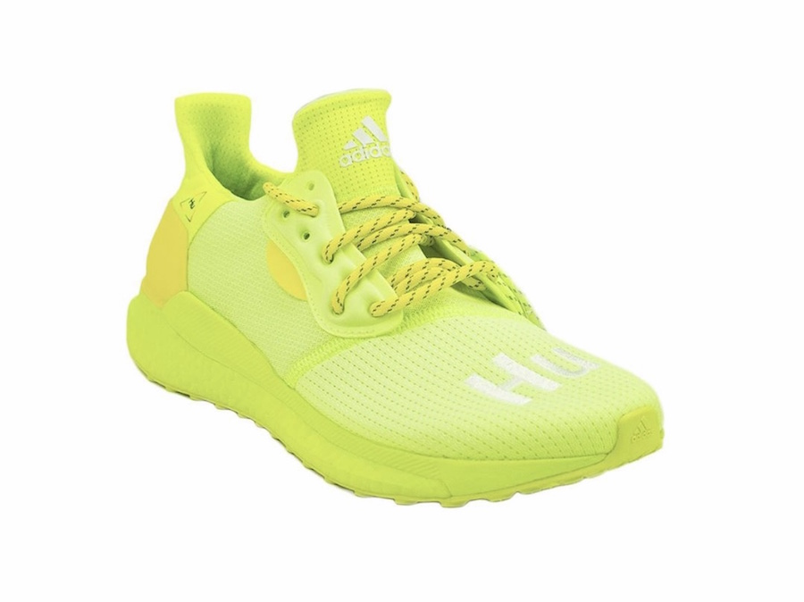 BBC Pharrell adidas Solar Hu Frozen Yellow Now Is Her Time Release Date