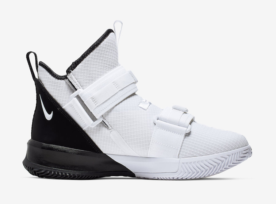Nike LeBron Soldier 13 White Black AR4228-100 Release Date
