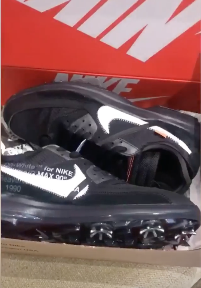 best website 66e0e 6aa8c Off-White Nike Air Max 90 Golf Shoe - Sneaker Bar Detroit