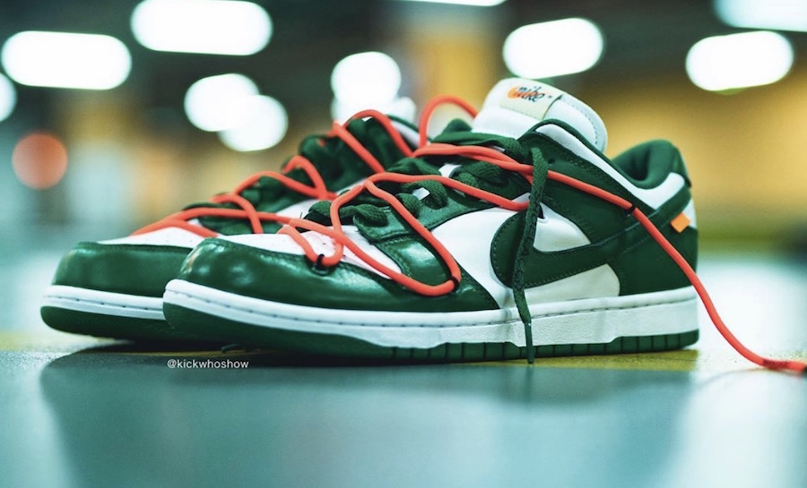 Off-White Nike Dunk Low Pine Green CT0856-100 2019 Release Date Price