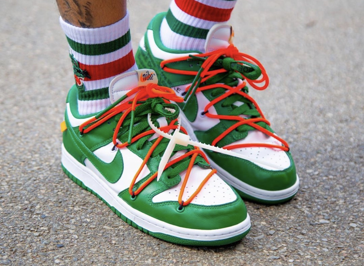 Off-White x Nike Dunk Low Pine Green CT0856-100 2019 Release Date Pricing