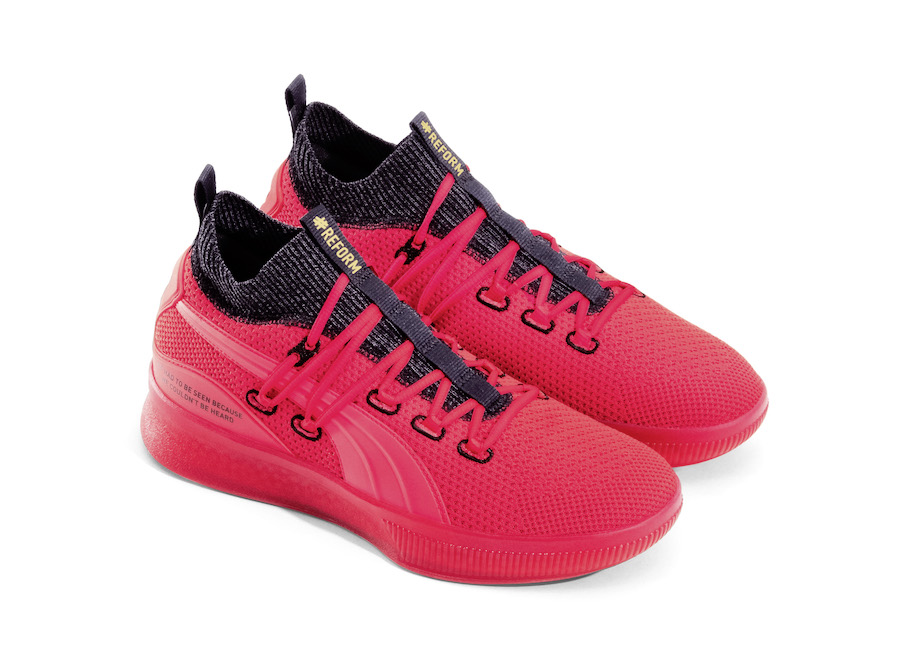 timeless design 31a38 fd6b5 PUMA Clyde Court Reform Red Black Meek Mill Release Date - SBD