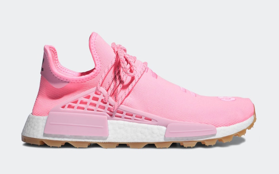 official photos 484b5 160e3 Pharrell x Adidas NMD Hu Trail Pink & Yellow Colorways ...