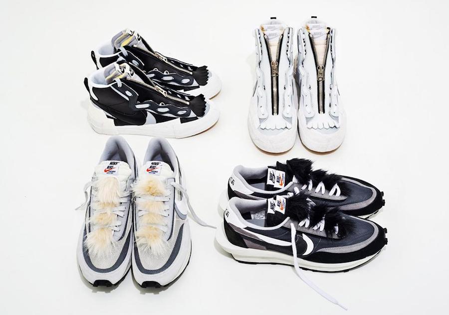 Sacai Nike LDWaffle Blazer Mid Release Info