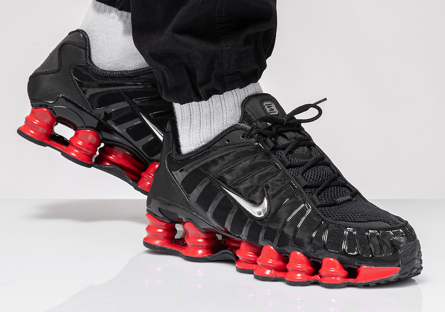 Skepta Nike Shox TL Black Metallic Silver University Red