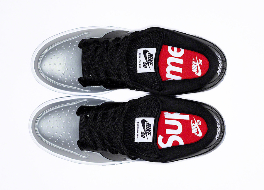 Supreme Nike SB Dunk Low Silver Black Release Date