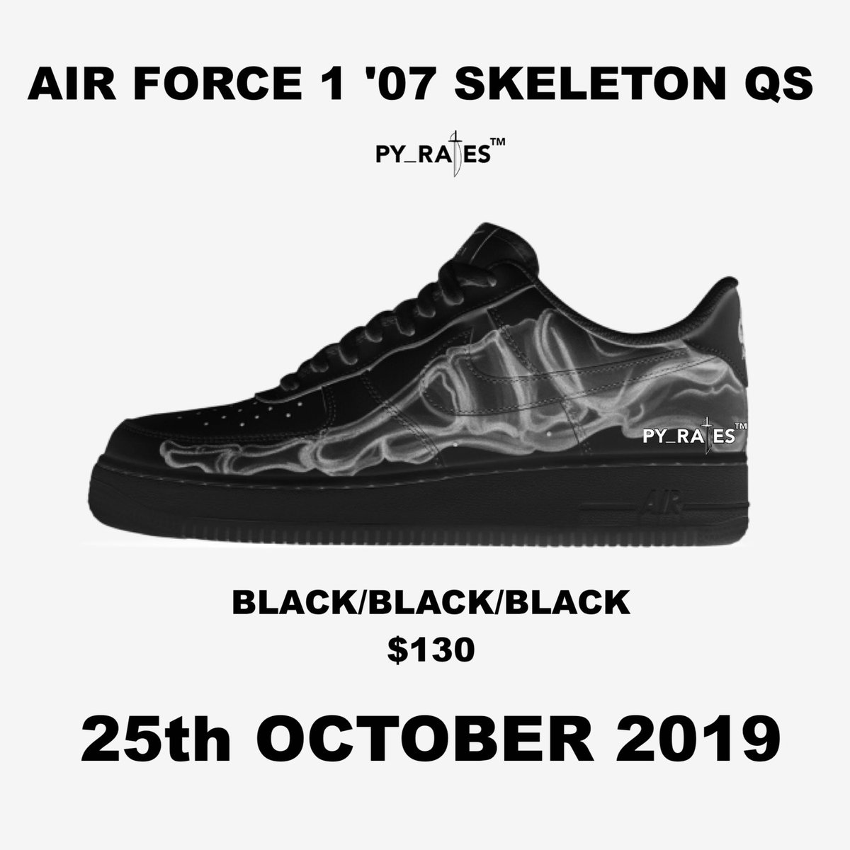 reputable site caa9d a557a Nike Air Force 1 Low Black Skeleton Release Date - Sneaker ...