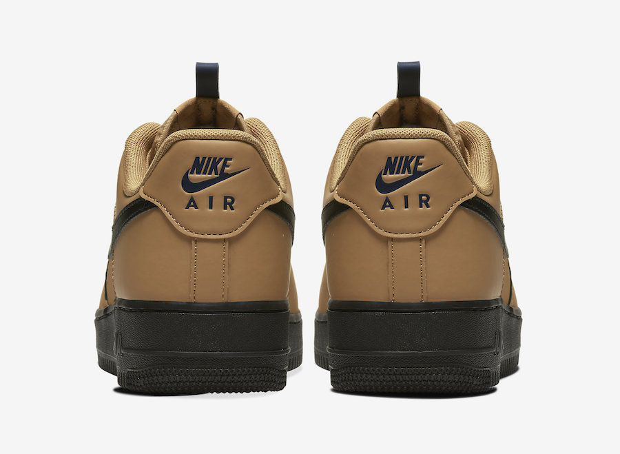 Nike Air Force 1 Low Wheat Black BQ4326-700 Release Date