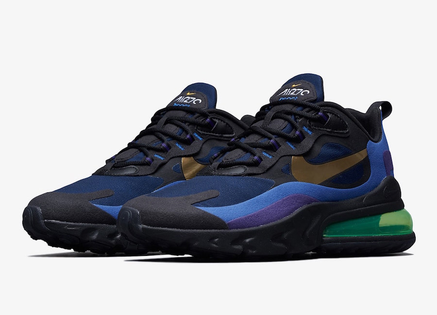 Nike Air Max 270 React Deep Royal Blue Gold Ao4971 005 Release