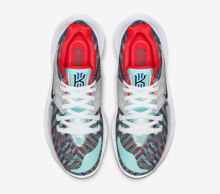Nike Kyrie Low 2 Multi-Color Light Aqua Black White AV6337-400 Release Date