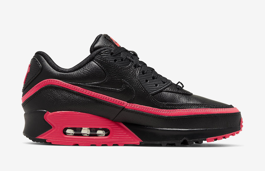 Undefeated Nike Air Max 90 Black Solar Red CJ7197-003 Release Date Price