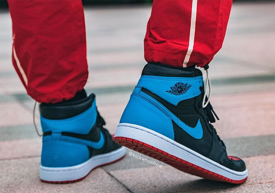 Air Jordan 1 UNC To Chicago CD0461-046 Release Date On-Feet