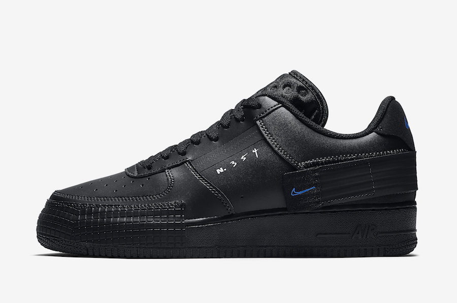 Nike Air Force 1 Low Type Black Photo Blue AT7859 001