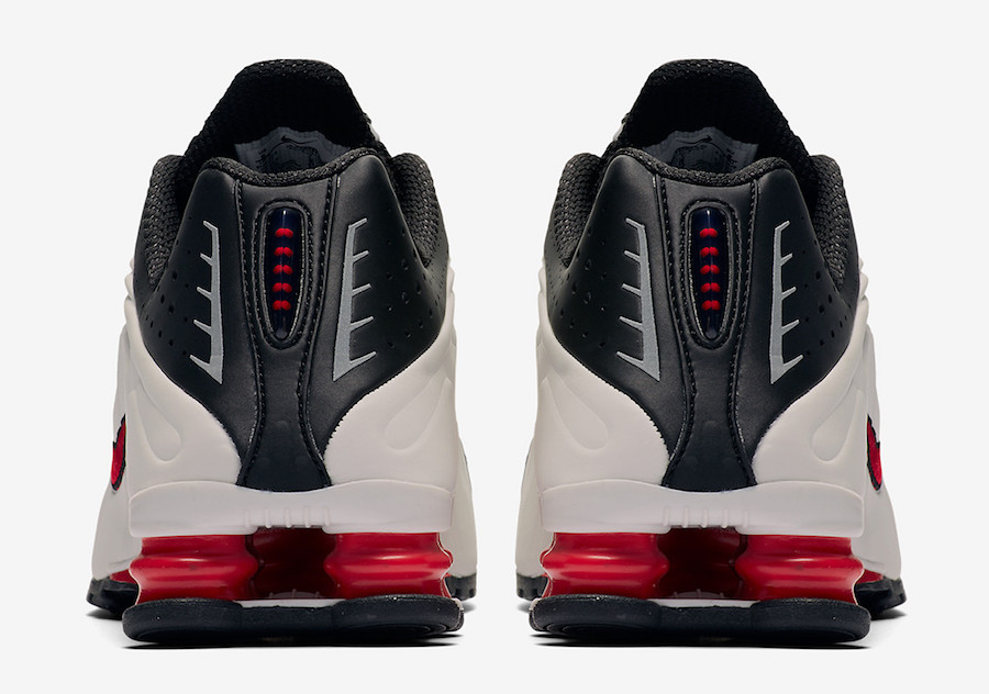 Nike Shox R4 Platinum Tint University Red Black 104265-050 Release Date