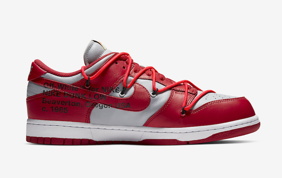 Off-White Nike Dunk Low Red Grey CT0856-600 Release Date