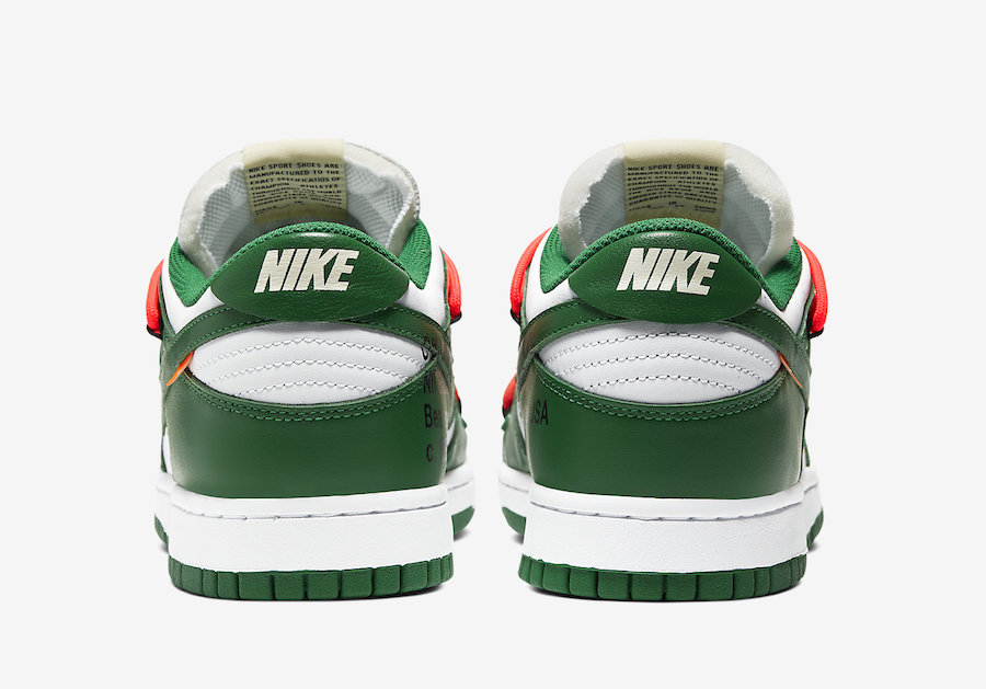 Off-White Nike Dunk Low White Green CT0856-100 Release Date