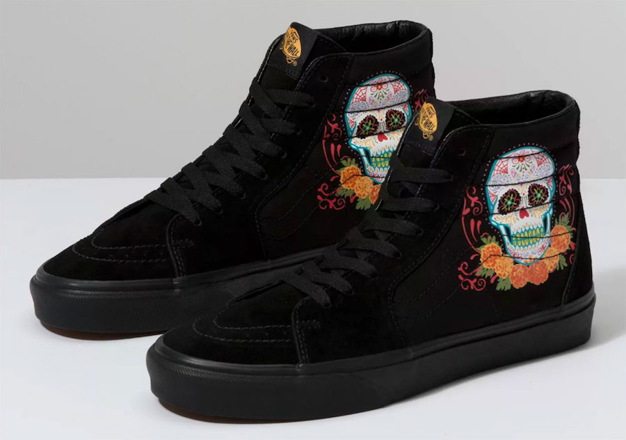 Vans Sk8-Hi Dia de los Muertos Day of the Dead Release Date