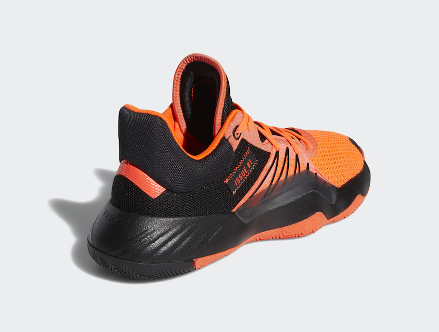 adidas DON Issue 1 Core Black Solar Red EH2133 Release Date