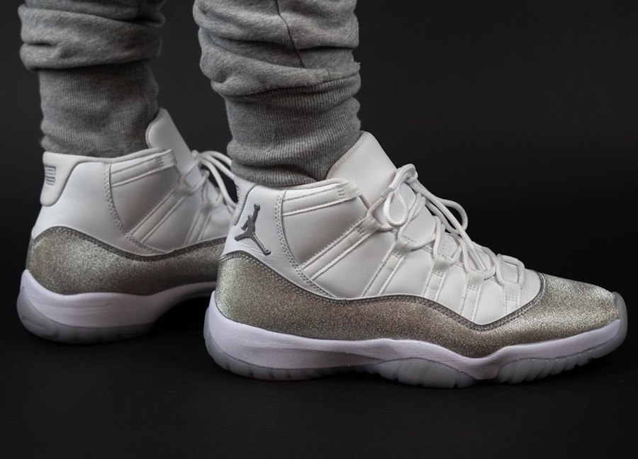 Air Jordan 11 WMNS Metallic Silver AR0715-100 Release Date On-Feet