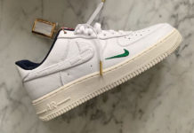 Kith Nike Air Force 1 White Green Navy Red