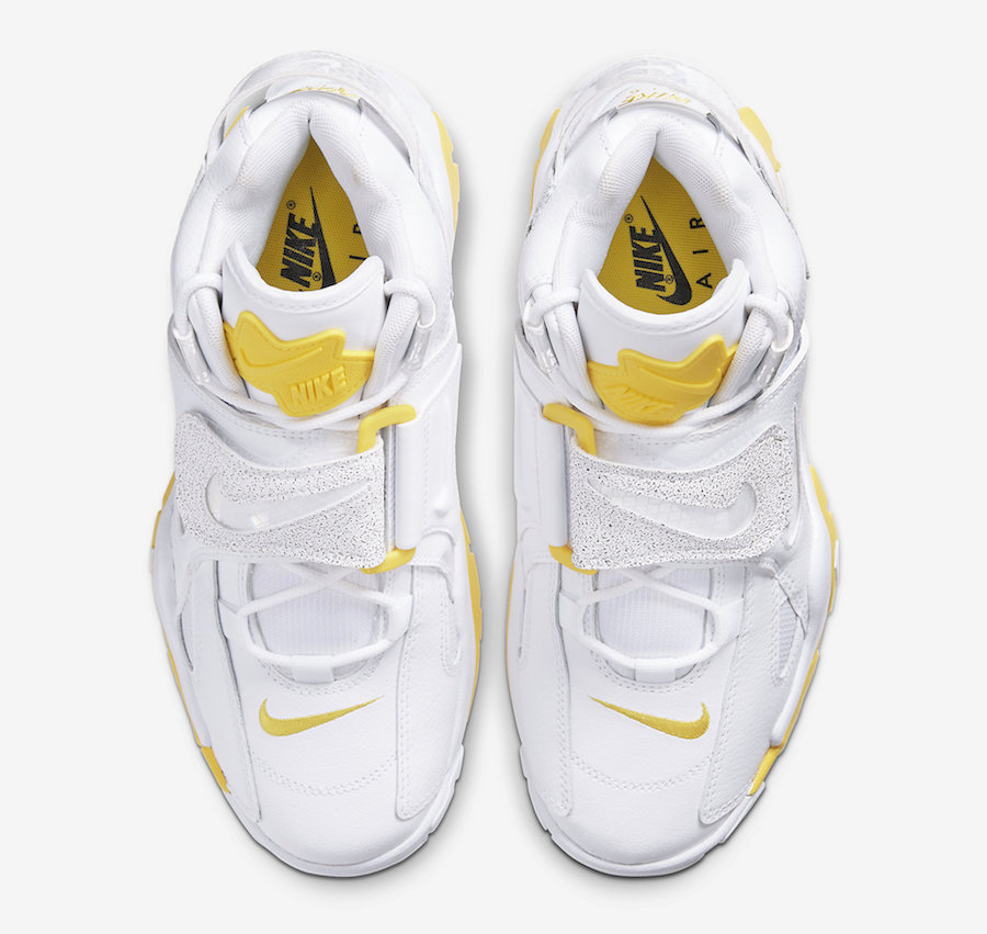 Nike Air Barrage Mid White Yellow Reflective CJ9574-100 Release Date