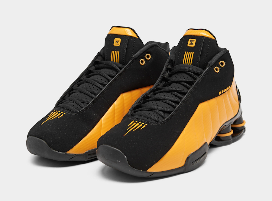 Nike Shox BB4 Black University Gold AT7843-002 Release Date