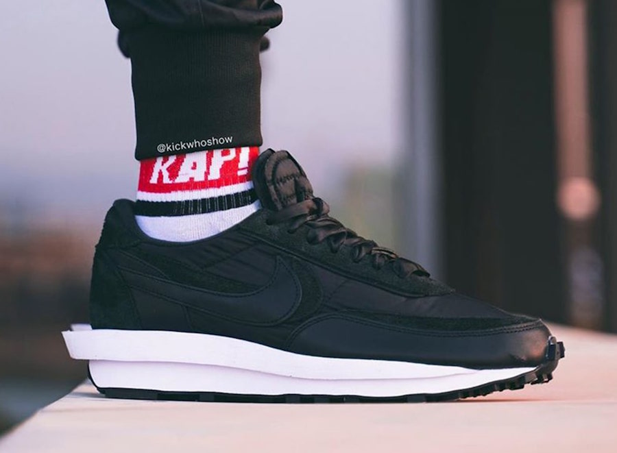 sacai Nike LDWaffle Black Nylon Suede Release Date