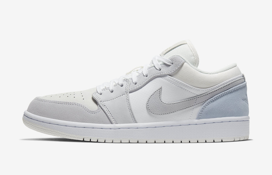 Air Jordan 1 Low White Sky Grey Football Grey CV3043-100 Release Date
