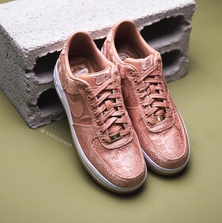 CLOT Nike Air Force 1 Rose Gold CJ5290-600 Release Date