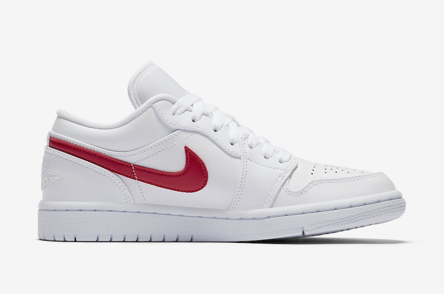 Air Jordan 1 Low White University Red AO9944-161 Release Date Price