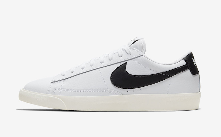 Nike Blazer Low Leather White Black CI6377-101 Release Date