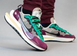 Sacai Nike Pegasus VaporFly String Black Villain Red Neptune Green DD3035-200 Release Date On-Feet