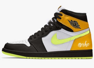 Air Jordan 1 White Volt University Gold Black 555088-118 Release Date