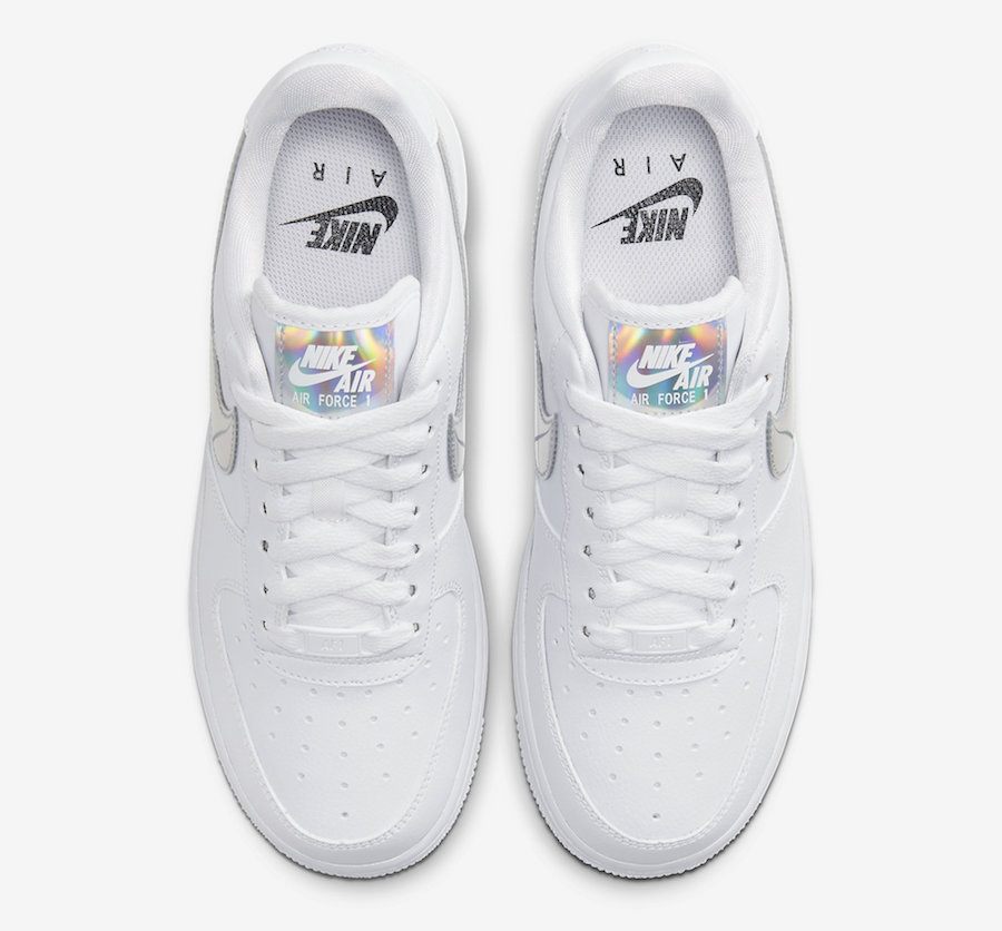 Nike Air Force 1 Low White Iridescent CJ1646-100 Release Date