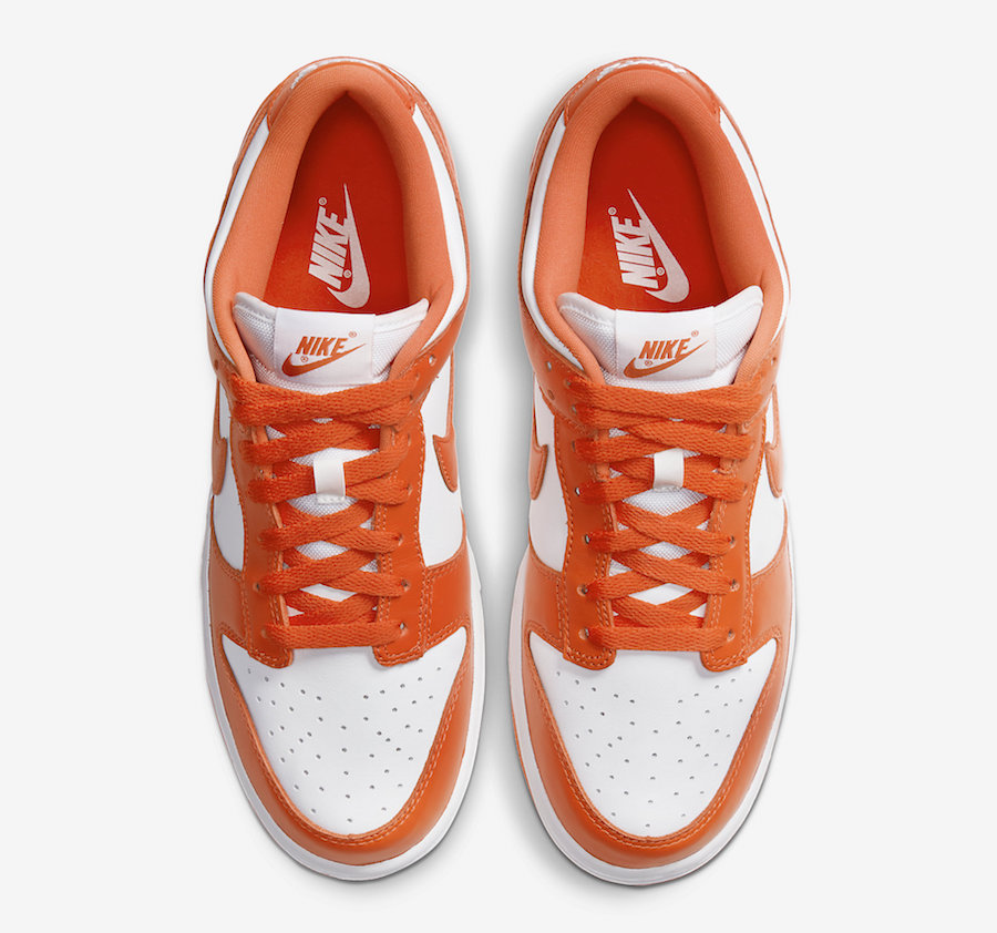 Nike Dunk Low Syracuse Orange White CU1726-101 Release Date Price