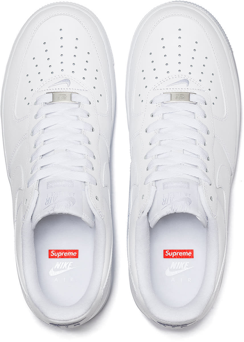 Supreme Nike Air Force 1 Low White 2020 Release Date