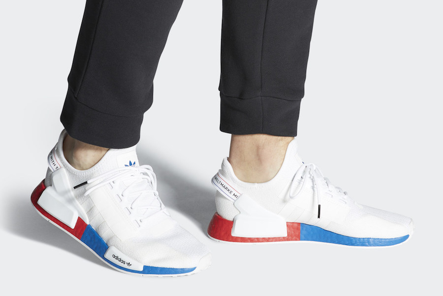 Adidas Nmd R1 V2 White Red Blue Fx4148 Release Date Sbd