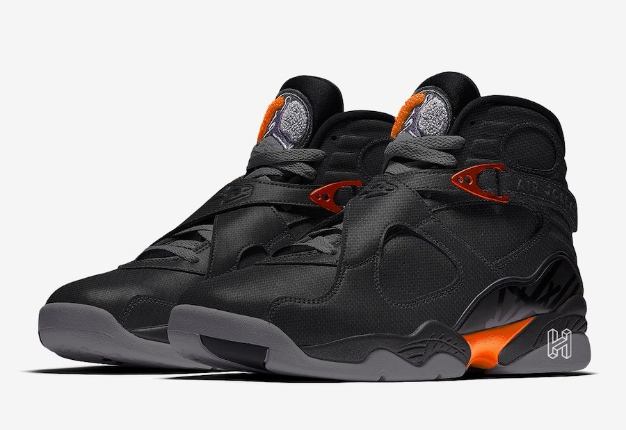 Air Jordan 8 WNTR Black Dark Grey Total Orange CT8532-050 Release Date