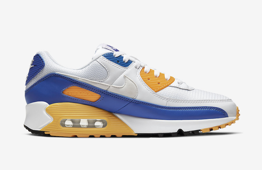 Nike Air Max 90 White Blue Yellow CT4352-101 Release Date