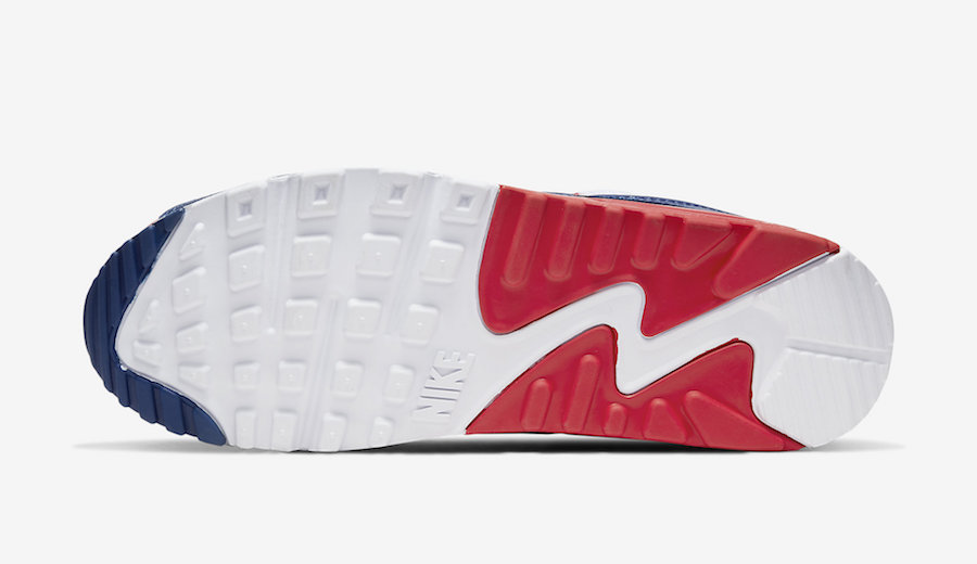 Nike Air Max 90 White Red Navy CW5456-100 Release Date