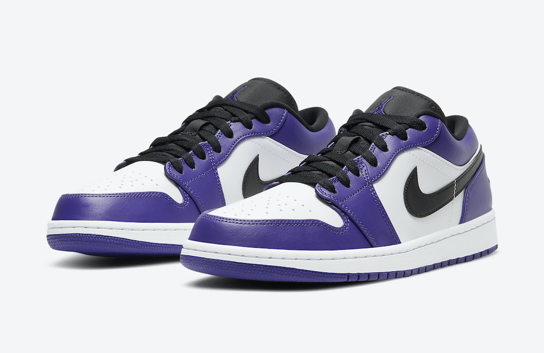 Air Jordan 1 Low Court Purple 553558-500 Release Date