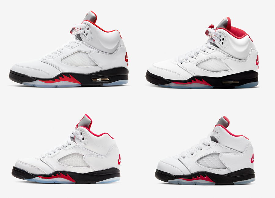 Air Jordan 5 Fire Red Family Sizing
