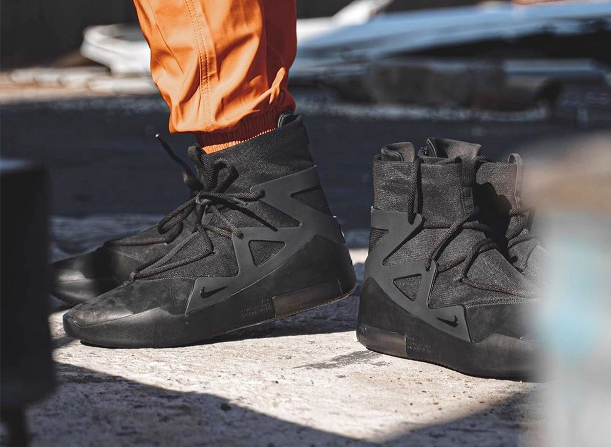 Nike Air Fear of God 1 Triple Black AR4237-005 Release Date On-Feet